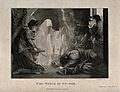 The witch of Endor conjures up the ghost of Samuel at the re Wellcome V0025882.jpg