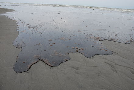 Thick oil washes ashore in Louisiana; 10 June 2010 Thick Oil Washes Ashore.jpg