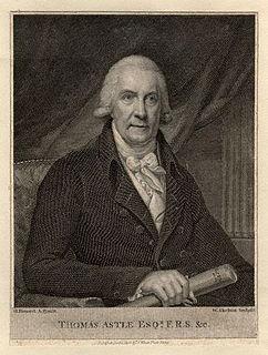 Thomas Astle British antiquary and palaeographer
