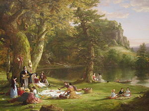 "Picnic - The artist Thomas Cole depicted ""The Picnic"" prior to 1860."