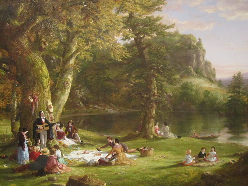 "File:Thomas Cole's ""The Picnic"", Brooklyn Museum IMG 3787.JPG"