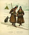 Thulstrup, Nordiska Drägter (1895) pl014 Luleå-lappar i vinterdräkt.jpg