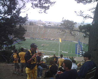 Tightwad Hill - The view from Tightwad Hill before the home opener against Maryland on September 5, 2009