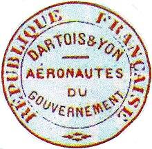 Bollo degli aeronauti addetti ai Ballons Montès del 1870