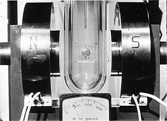 Meissner effect - Image: Tin 4.2K Electromagnet