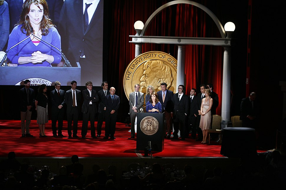 Tina Fey and the cast and crew of 30 Rock at the 67th Annual Peabody Awards