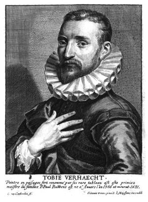 Tobias Verhaecht - Tobias Verhaecht portrait in Het Gulden Cabinet
