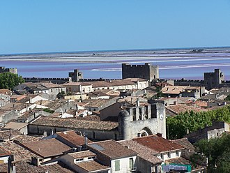 Aigues-Mortes - The medieval city of Aigues-Mortes, the ramparts and the salt and the sea