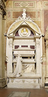 Rossini's final resting place, in the Basilica of Santa Croce, Florence; sculpture by Giuseppe Cassioli (1900) (Source: Wikimedia)