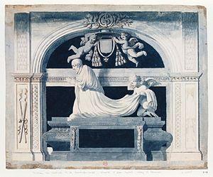 François de La Rochefoucauld (cardinal) - The tomb of de La Rochefoucauld in the Abbey of Sainte-Geneviève in Paris, France.