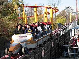 Top Thrill Dragster - Train on the brake run
