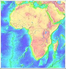 topografisk karta över Afrika
