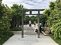 Torii of Tetsudo Shrine on top of Hakata Station 3.jpg
