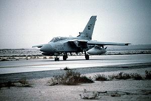 Coalition of the Gulf War - A Royal Saudi Air Force Tornado F3 during Operation Desert Storm.