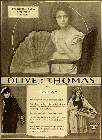 Olive Thomas - Ad for Toton (1919)