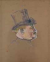 Toulouse-Lautrec - ETUDE POUR LE PORTRAIT DE MONSIEUR DELAPORTE, 1892, MTL.147.jpg