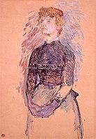Toulouse-Lautrec - FEMME DEBOUT (recherche pour A Batignolles de Bruant), 1888, MTL.126.jpg