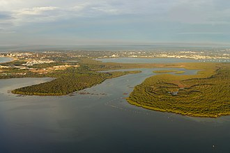 Towra Point Nature Reserve - Aerial view of Towra Point Nature Reserve