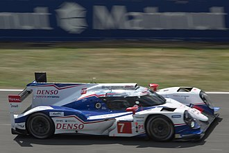 2014 24 Hours of Le Mans - The No. 7 Toyota TS040 Hybrid claimed pole position after setting a 3:21.789 lap in qualifying