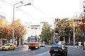 Tram in Sofia near St Nedelya Church 2012 PD 016.jpg