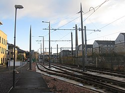 Tramway at Haymarket Yards (geograph 3766445).jpg