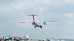 TransAsia Airways ATR 72-212A B-22815 Final Approach to Taipei Songshan Airport 20150101b.jpg