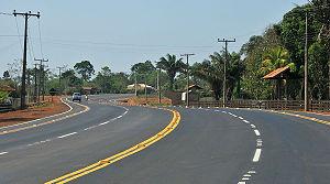 BR-364 - Stretch in Senador Guiomard, Acre, east of Rio Branco