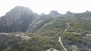 Tri Peaks (Santa Monica Mountains) - Image: Tri Peaks, Exchange Peak