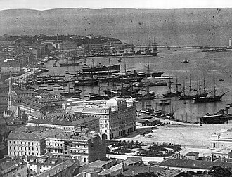 Metres above the Adriatic - Port of Trieste, about 1885