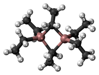 Triethylaluminium - Image: Triethylaluminium dimer 3D ball