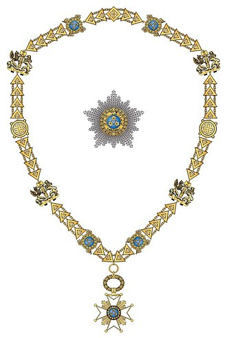 Order of the Three Stars - Collar and star of the order