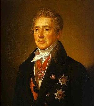 Ivan Dmitriev - Portrait of I. I. Dmitriyev by Vasily Tropinin. 1835.
