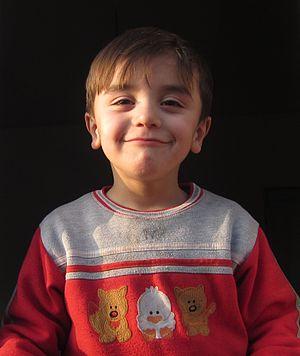 Tsakhur people - Tsakhur child from Qum (Azerbaijan)