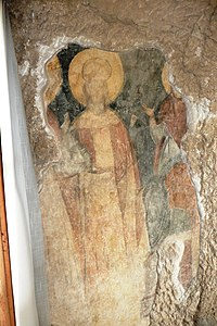 14th century mural portrait of Tsar Ivan Alexander from the Rock-hewn Churches of Ivanovo
