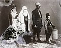 Turban, tarboosh, folk costume, damaged photo, burqa Fortepan 86965.jpg