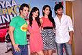 Tusshar Kapoor, Neha Sharma, Sarah Jane Dias, Riteish Deshmukh at 'Kyaa Super Kool Hain Hum' promotions 02.jpg
