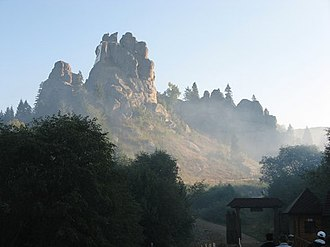 Lviv Oblast - The Tustan rock complex in Skole Raion