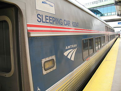 Amtrak Viewliner, a single-level sleeping car Twilight Shoreliner viewliner.jpg
