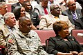U.S. Army Gen. Lloyd J. Austin III, left, vice chief of staff, and his wife, Charlene, right, attend the promotion ceremony of Gen. Dennis L. Via at Redstone Arsenal, Ala., Aug. 7, 2012 120807-A-AO884-015.jpg