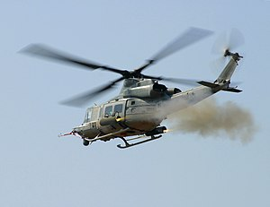 Bell UH-1Y Venom - UH-1Y firing rockets