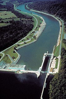 Melton Hill Dam Dam in Roane County and Loudon County, Tennessee, United States