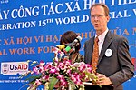 USAID Mission Director Joakim Parker speaks at the Social Work Day event in Hanoi (8168725708).jpg