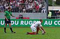 USO - RCT - 28-09-2013 - Stade Mathon - Romain Poite et Jonathan Wilkinson.jpg