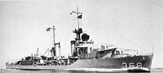 USS <i>Flusser</i> (DD-368) WWII US destroyer