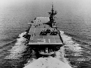USS Bon Homme Richard (CV-31) stern view 1952.jpg