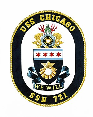 Coat of arms for the USS CHICAGO (SSN 721)