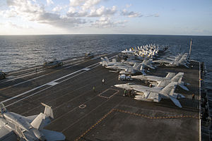 Banda Sea - The USS George Washington crossing the Banda Sea
