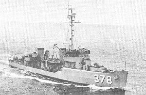 USS Redstart (AM-378) - Image: USS Redstart (AM 378)