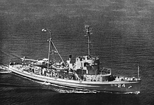 USS Serrano (ATF-112) - USS Serrano (AGS-24) underway c1961