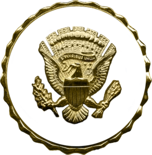 Vice Presidential Service Badge - Image: US Vice Presidential Service Badge